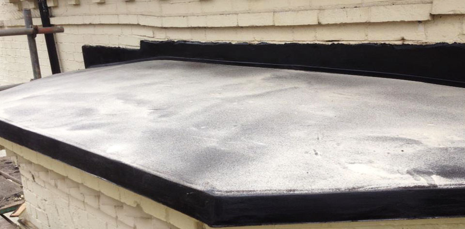 Here is an example of a small Flat Roof worked on in 2012 by Damario Asphalt.